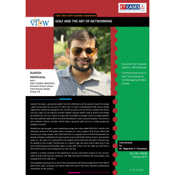 Case View with Aashish Vaishnava  - Golf and the Art of Networking
