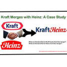 Kraft Merges with Heinz: A Case Study*