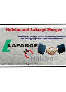 Holcim and Lafarge Merger*