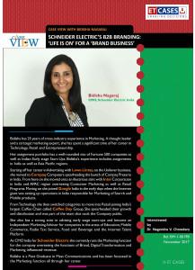 Case View with Bidisha Nagaraj - Schneider Electric's B2B Branding: 'Life Is On' for a 'Brand Business'